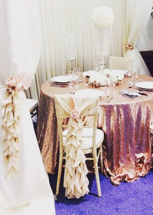 Sequin tablecloth 5