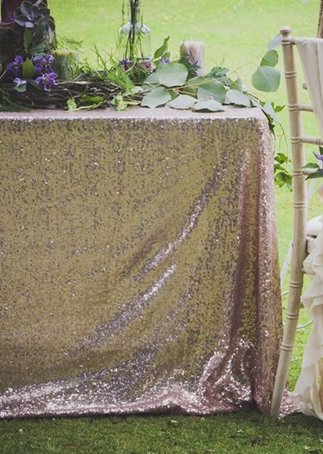 Sequin tablecloth 6