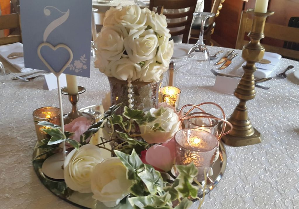 Wedding table centrepiece 1