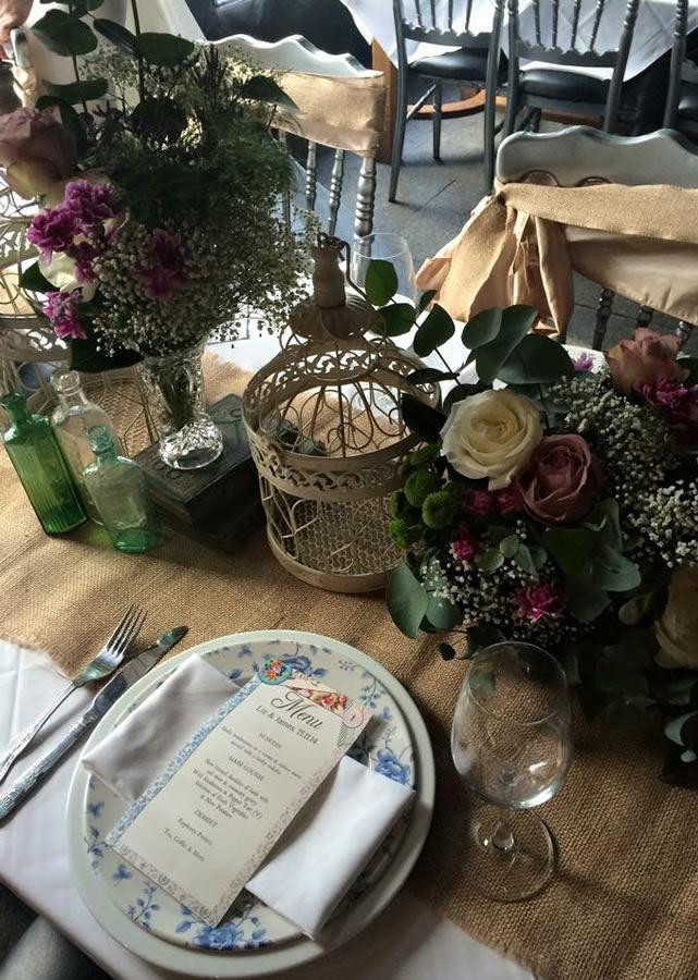 Wedding table centrepiece 2