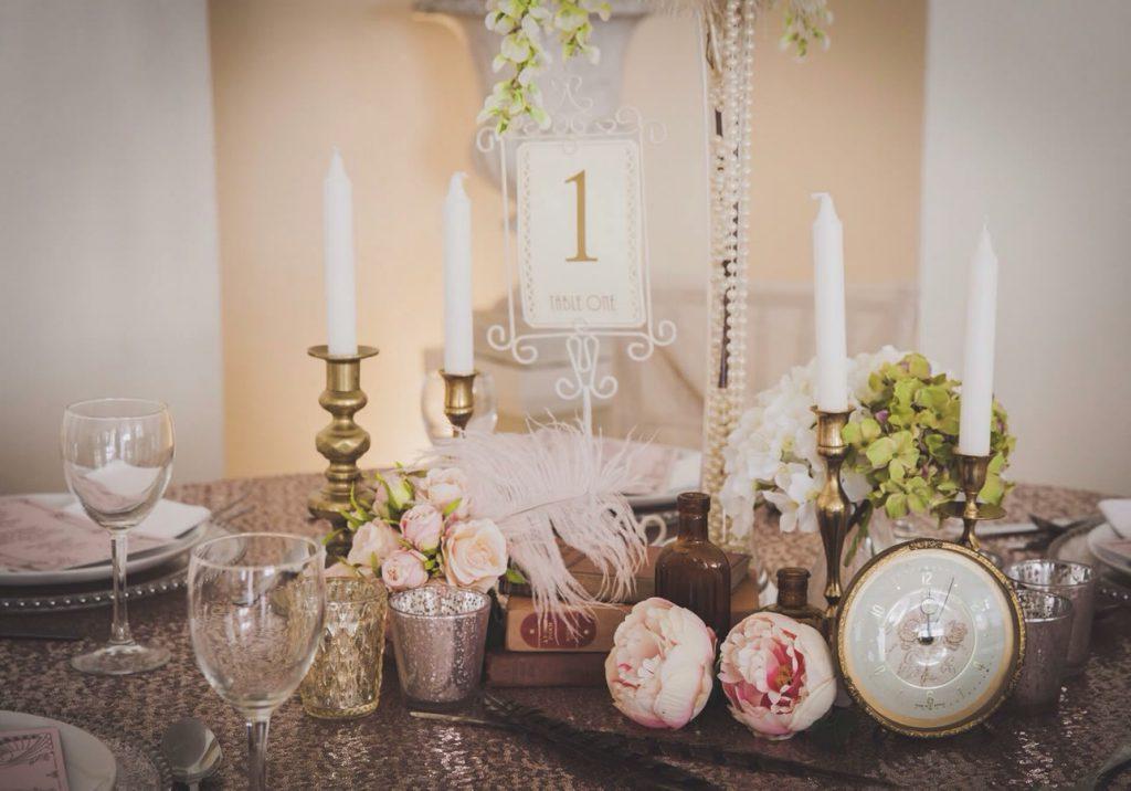 Wedding table centrepiece 6