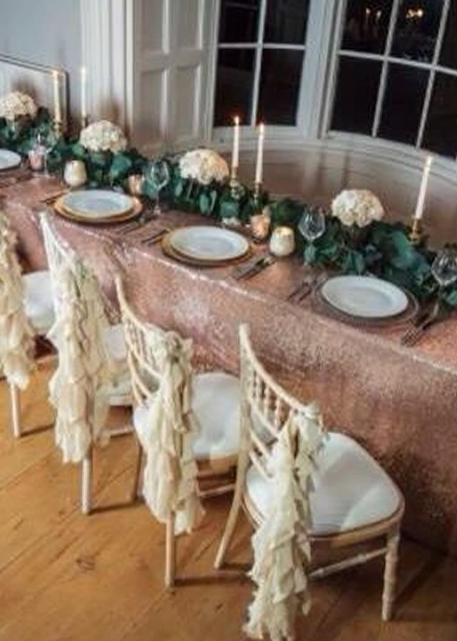 Sequin tablecloth 7